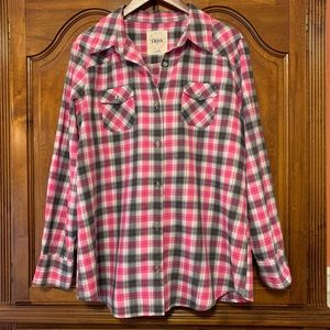 IZOD Plaid Button Down Shirt Baby Flannel XL